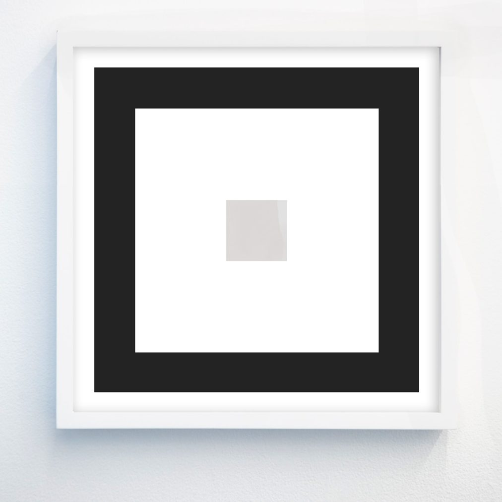 black and white abstract geometric print