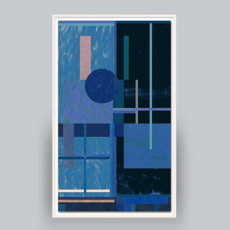 blue geometric abstract art