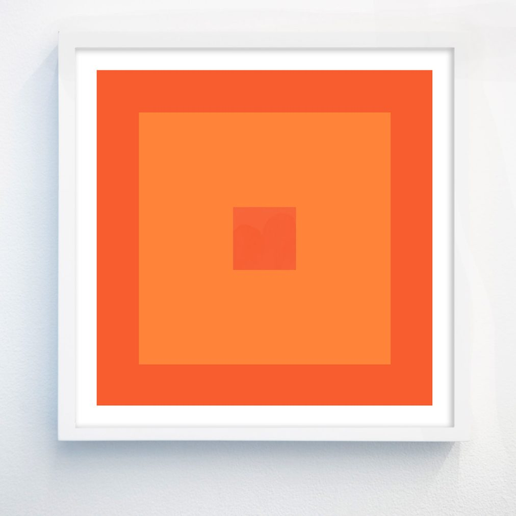 colorful abstract orange