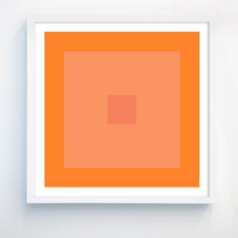 colorful abstract art with orange